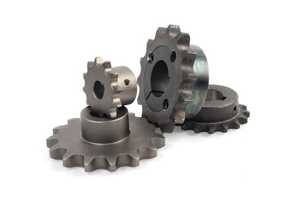 Rodas dentadas para vários tipos de correntes de transmissão de rolos