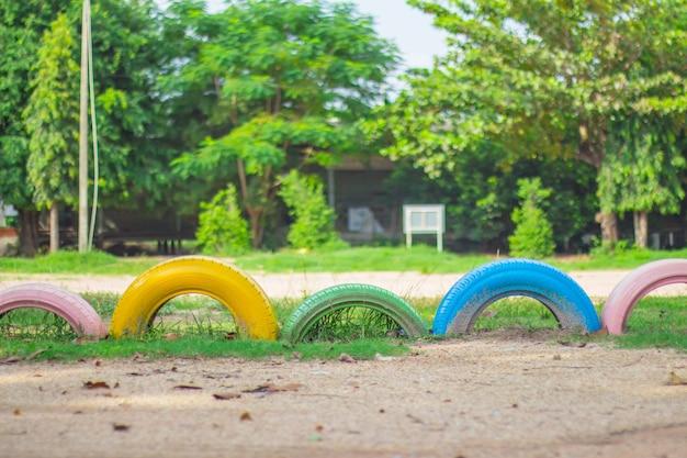 Rodas no gramado