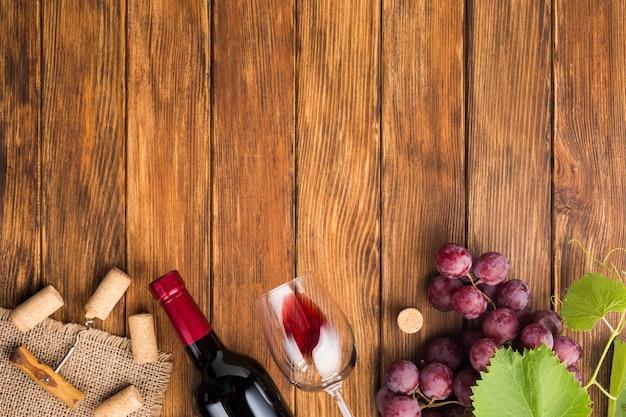 Rolhas de vinho de garrafas de bebidas
