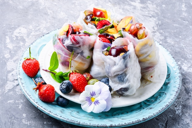 Rolinho primavera japonês delicioso