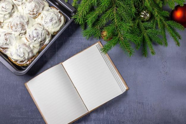 Rolinhos de canela ou cinnabon para o natal