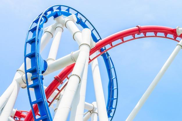 Roller coaster no parque