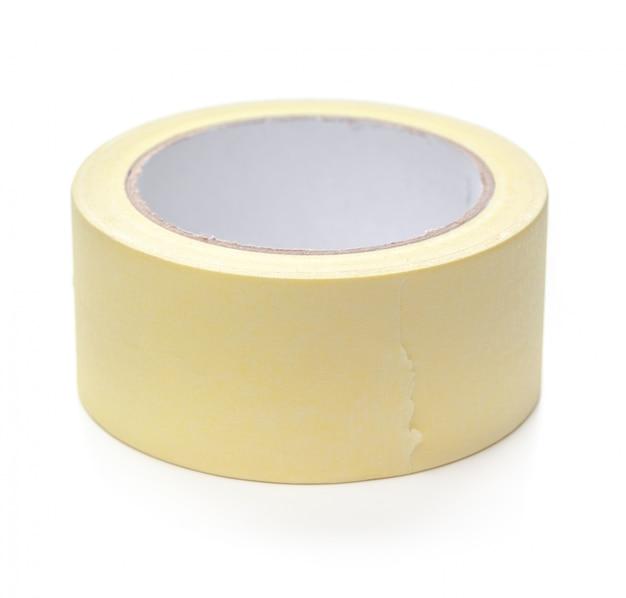 Rolo de fita adesiva transparente isolada