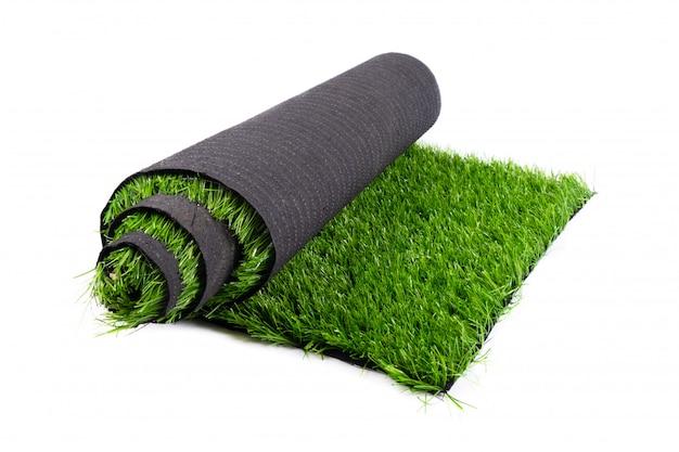 Rolo de grama verde artificial