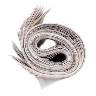 Rolo de jornais.