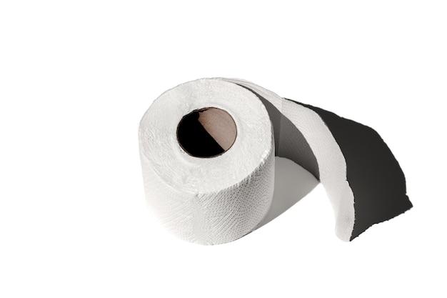 Rolo de papel higiênico isolado close-up