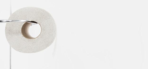 Rolo de papel higiênico para espaço de cópia