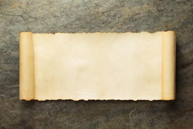 Rolo de pergaminho antigo