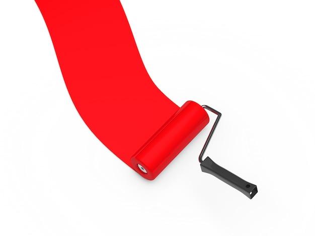 Rolo de pintura vermelho