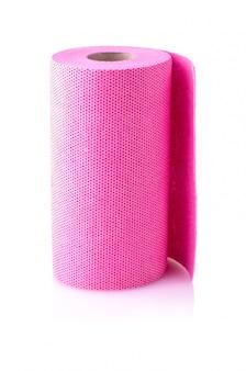 Rolo de toalha de papel vermelho esculpido isolado