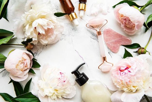Rolo facial de jade para terapia de massagem facial de beleza