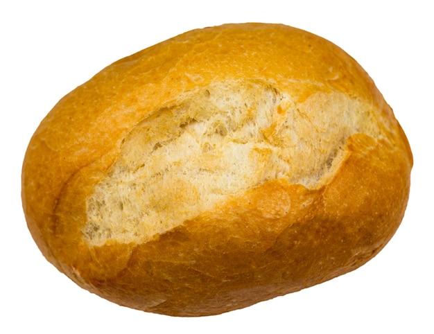 Rolo pães isolados no fundo branco close-up.