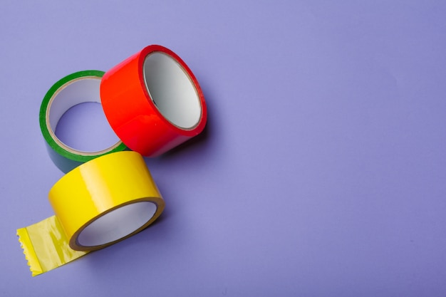 Rolos de fita adesiva de isolamento; fita isolante multicolorida