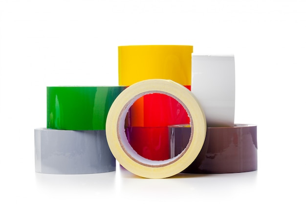 Rolos de fita adesiva transparente