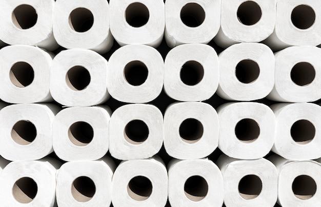 Rolos de papel higiênico de close-up