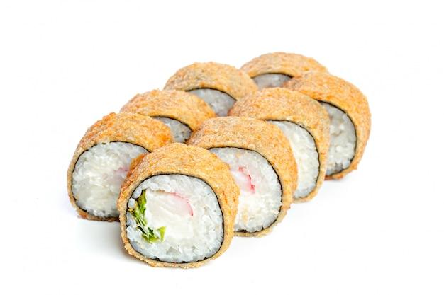 Rolos de sushi japoneses