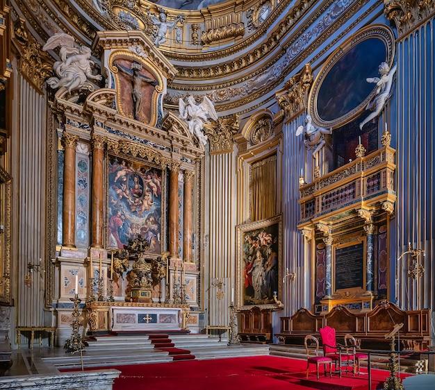 Roma, itália - 20.11.2019: santa maria em vallicella, ou chiesa nuova, uma igreja em roma, itália
