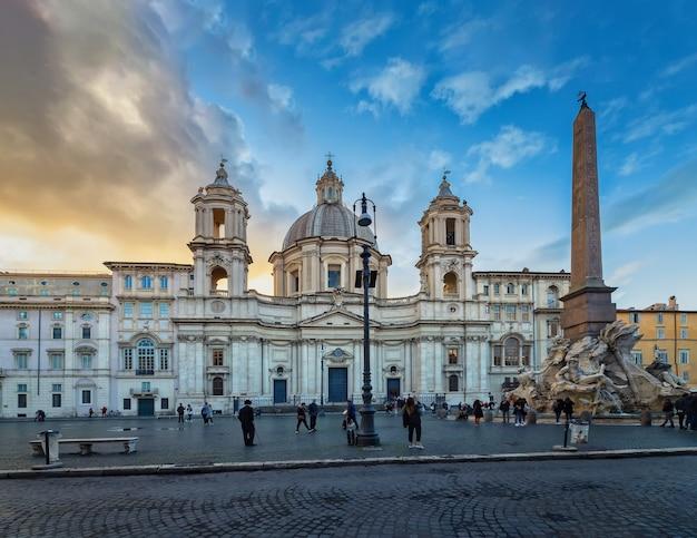 Roma itália sant agnese in agone na piazza navona