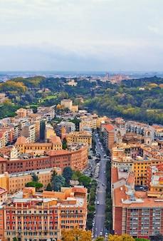 Roma noite de construção de panorama,
