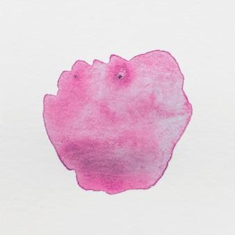 Rosa aquarela respingo mão pintada isolado no fundo branco