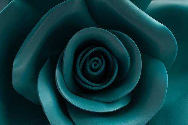 Rosa de uma cor verde