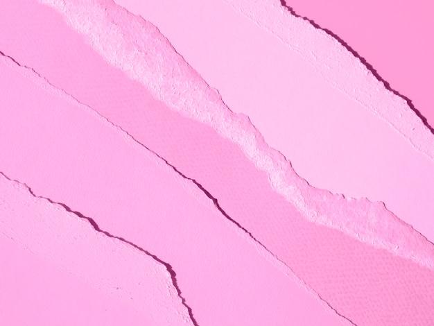 Rosa gradiente de linhas de papel abstrato rasgado