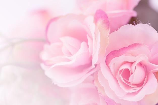 Rosas de cor doce feitas com gradiente no estilo suave fo fundo