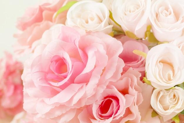 Rosas de tecido cor doce em estilo suave para o fundo
