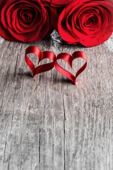 Rosas e corações