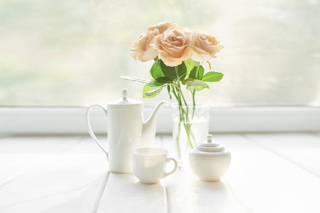 Rosas para o dia das mães, cartão modelo para 8 de março