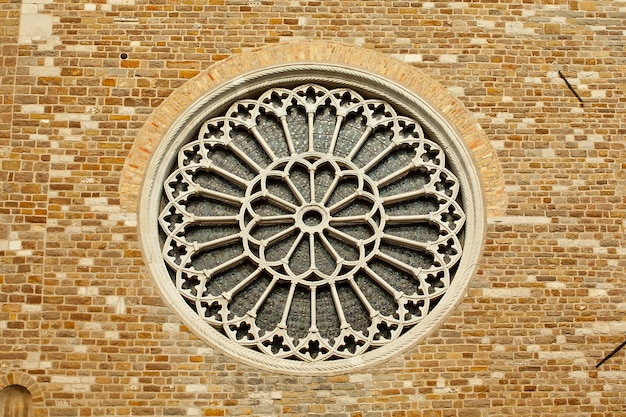 Rosewindow na igreja de st. giusto, trieste