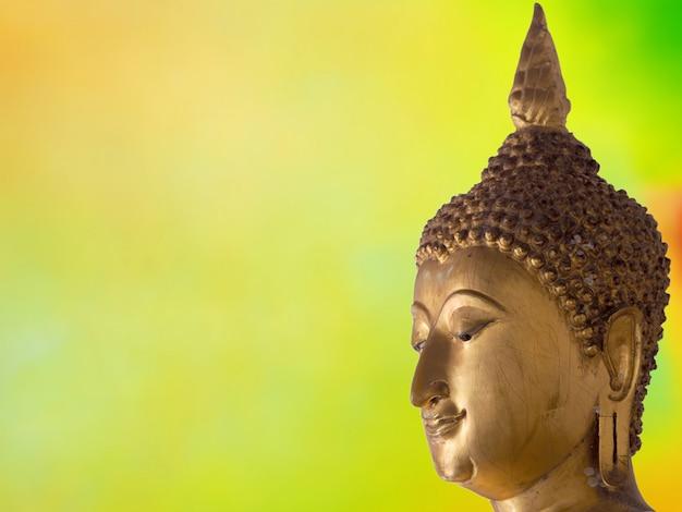 Rosto, de, buddha, fundo