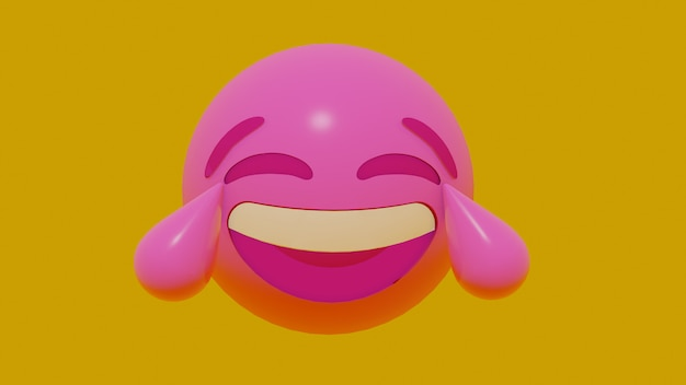 Rosto de emoji de movimento 3d