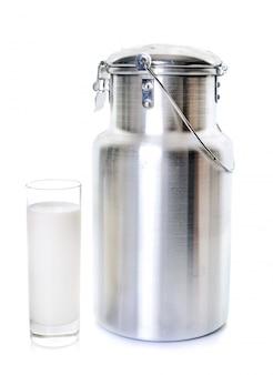 Rotatividade de leite e vidro