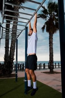 Rotina de treino de estilo de vida saudável