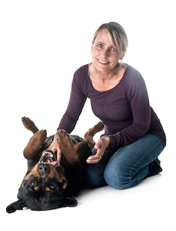 Rottweiler e mulher