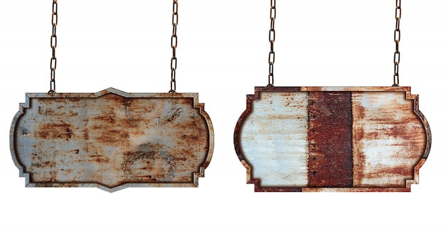 Rótulo vintage de fronteira de quadro de sinal de madeira isolado no fundo branco