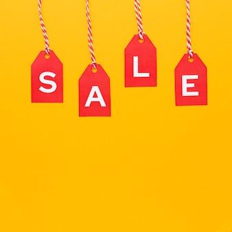 Rótulos de conceito de venda cyber monday