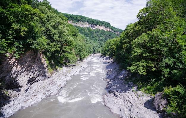 Rough mountain river