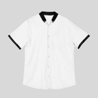 Roupa casual masculina de manga curta branca
