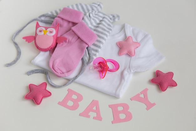 Roupa de bebê infantil chupeta de bebê menina