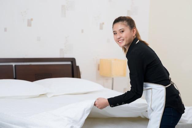 Roupa de cama em um hotel