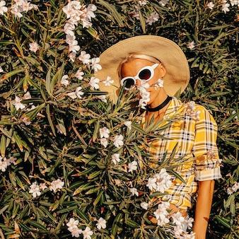 Roupa de flores de verão para meninas no estilo country