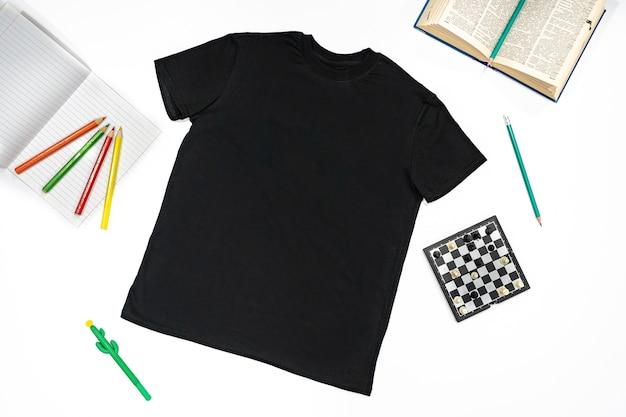 Roupas de algodão para escola e suéter esportivo, calça e camiseta
