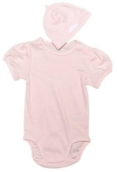 Roupas de bebê isoladas no fundo branco