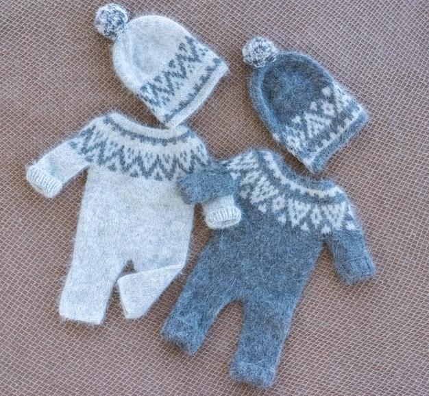 Roupas de bebê recém-nascido de malha