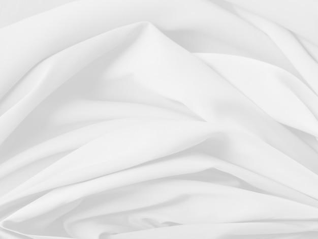 Roupas de cama brancas com ondas suaves