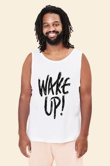 Roupas masculinas 'wake up!' foto de estúdio de pijama