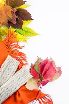 Roupas quentes para o outono, cachecol, sapatos, luvas