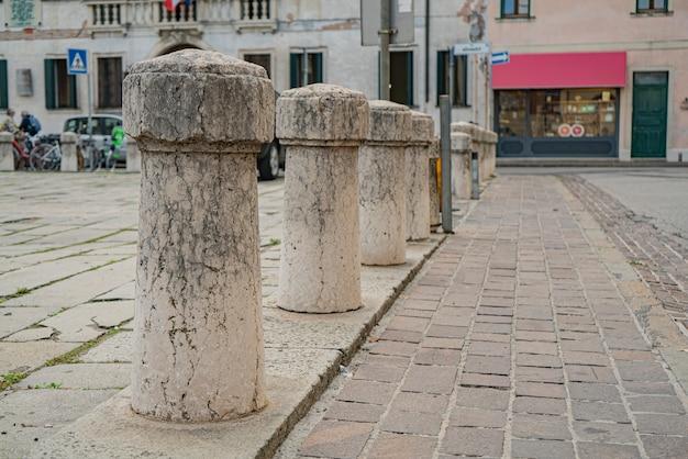 Rovigo, itália 14 de outubro de 2021: praça giuseppe garibaldi em rovigo, uma histórica cidade italiana